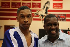 David Chambers men's sparring grand champion and D.E Chambers producer